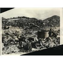 1926 Press Photo SAn Francisco garbage dump at municipal park area over mines