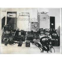 1944 Press Photo Equipment seized in the espionage raids by Argentina Federal.