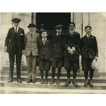 1922 Press Photo Group of members of the Boys Club called White House today.
