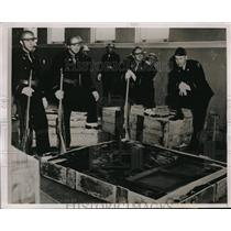 1939 Press Photo Bloomington Illinois Art Exposition