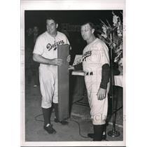 1940 Press Photo Chuck Dressen Coach Dodgers Freddie Fitzsimmons Pitcher MLB