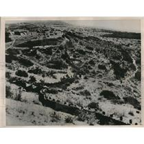 1936 Press Photo New defensive wall constructed in Tambien, Ethiopia