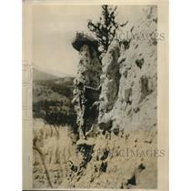 1926 Press Photo Jasper Park Alberta Hoodoos