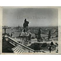 1933 Press Photo Panoramic View of the Budapest Capital of Hungary of Europe.