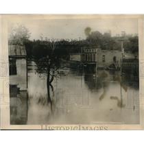 1927 Press Photo Flooded Street In Kentucky