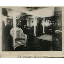 1928 Press Photo Admiral's Cabon aboard the USS Maryland by Pres.-elect Hoover