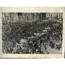 1929 Press Photo 15000 Children March In Mexico City In Favor Of Prohibition