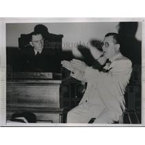 1935 Press PhotoLou Daro, Wrestling Promoter, in court - nec63672