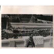 1940 Press Photo Premier Major General Luang Bipul Songkram after addressing dem