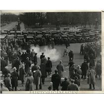 1930 Press Photo Wash DC police use tear gas to disperse Communist demonstrators