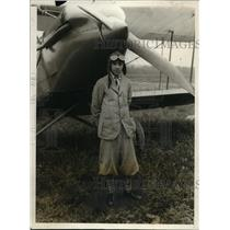 1928 Press Photo DC Joe Gersido, age 14 pilot and his plane