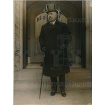 1920 Press Photo Senor Juan Riano Spanish Ambassador to US in Top Hat