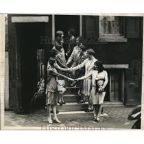 1929 Press Photo Competitors Tie at Interscholastic Spelling Bee in Philadelphia
