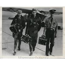 1939 Press Photo Harry Lear, Donald McCarthy, Leo Wine, Denver Air Corps school