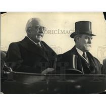 1921 Press Photo Honorable Arthur Halfou At Union Station With Secretary Hughes