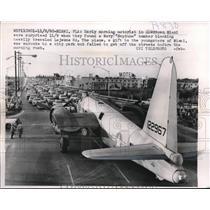 "1960 Press Photo Navy ""Neptune"" Bomber block Miami Lejeune road"