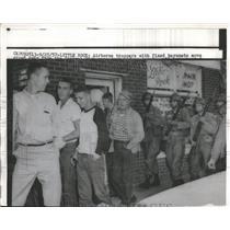 1957 Press Photo Elliott Growe feeding troy on his Paradise ranch - nec70280