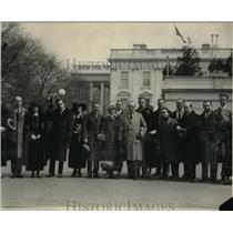 1924 Press Photo Roxi and his gang, radio broadcasters poses at the White House