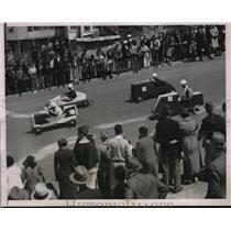1937 Press Photo San Francisco, Carolina St soap box derby heats - nes16003