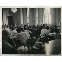 1933 Press Photo banker Otto Kahn testifying at Senate Investigation in DC