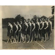 1927 Press Photo Varsity Hockey team of Bryn Mawr College - nes16285
