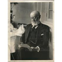 1923 Press Photo Nathan L. Strauss celebrates his 75th birthday