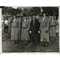 1932 Press Photo Manhattan Girl Scouts at the East Meadow of Central Park, NY