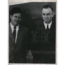 1935 Press Photo Pilot Rbt Allen & co pilot Glen Lenz of Standard oil plane