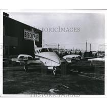 1967 Press Photo A Beechcraft plane at manufacturing facilty - nec71016