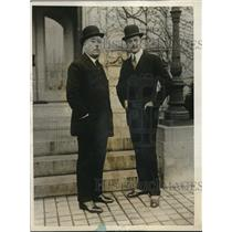1925 Press Photo Spanish US Ambassadors Don Juan Riano and Ogden Hammond