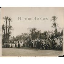 1928 Press Photo Sultan's procession at the opening of new railway in Morocco