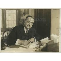 1918 Press Photo Novelist Montague Glass .