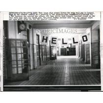 1958 Press Photo Hello sign at the main hall in Central High School