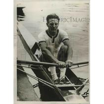 1925 Press Photo W, Hoover of Diamond Scull in Henley Regatta on 2nd Day
