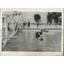 1923 Press Photo Big Bill Edwards Diving Venus at Miami Pool