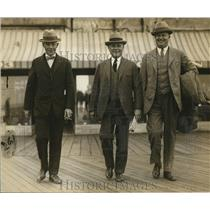 1925 Press Photo Three Labor Officials Attend Labor Convention
