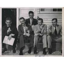 1936 Press Photo Harry Frantz, Chas Barnes, Wm Chaplin, L Lyman,C Allen