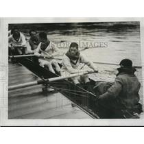 1923 Press Photo WP Mellen & Oxford crew team in their scull - nes16581