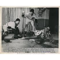 1948 Press Photo Tampa Fla Andy Seminick, Ewell Blackwell of Reds - nes18519