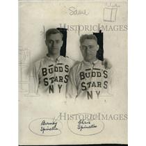 1922 Press Photo Barney & Chris Spinella of Budds Stars NY - nes17743