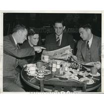 1939 Press Photo Pirates Cy Daniel, Russell Bauers,Joe Bowman,Ray Mueller
