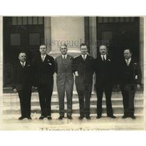 1929 Press Photo Veterans HD Myers HV O'Day Robert Handy Jr Walter Guatafson