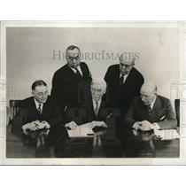 1932 Press Photo Chicago Bldg Workers Union, PF Sullivan,GW Griffiths