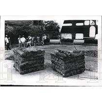 1978 Press Photo New sod laid at People's Park in Cleveland Ohio