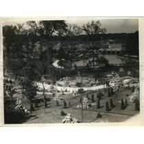1926 Press Photo St Mary of the Lake park