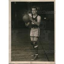 1924 Press Photo Captain Huxey Haas of The Yale University Basketball Team