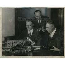1923 Press Photo Albert Larhig, Sgt Wm Hussmua & Glenn Smith