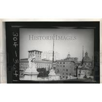 1927 Press Photo View of Rome seen from Victor Emmanuel Monument