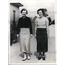 1395 Press Photo Jane McMullen and Isabel McMullen