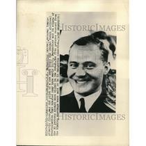 1948 Press Photo Capt. K.E. Parmentier, Royal Dutch Airline Pilot That Crashed
